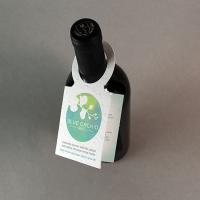 Seed Paper Wine Bottle Tag With Fold Double Sided