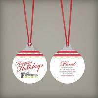 Christmas Ball Seed Paper Ornament Double Sided