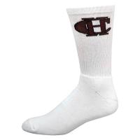 Super Soft Cotton Crew Sock with Knit-In Logo