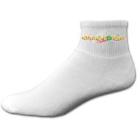 Super Soft Cotton Anklet Sock with Printed Applique