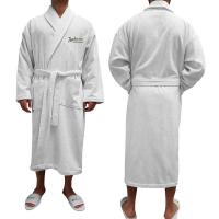"Turkish Terry Bathrobe, 50""L, Embroidered"