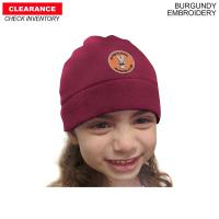 Kid Fleece Beanie, 2 to 7 Years, Embroidered