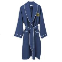 Microfiber Suede Bathrobe, Embroidered