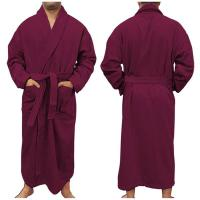"Plush Velour Bathrobe, 50""L, Blank"