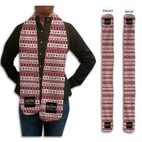 Fleece Holiday Scarf, 6x60, Sublimated
