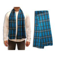 Fleece Plaid Scarf, 9x60, Sublimated
