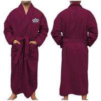 "Plush Velour Bathrobe, 50""L, Embroidered"